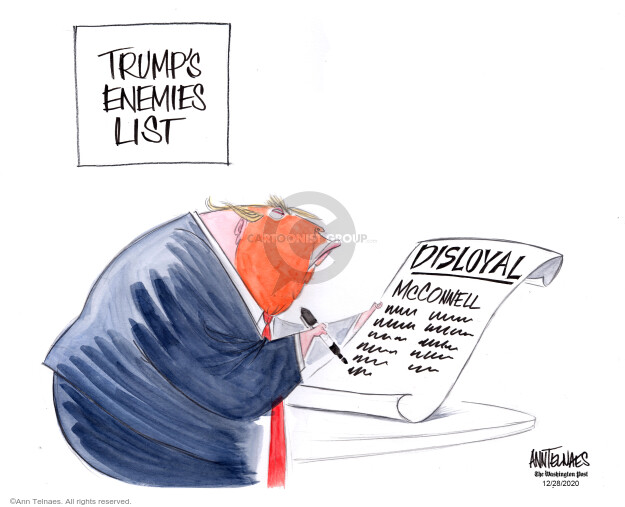 Ann Telnaes  Ann Telnaes' Editorial Cartoons 2020-12-28 senate majority leader