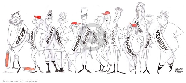 Ann Telnaes  Ann Telnaes' Editorial Cartoons 2021-01-05 congressional leadership