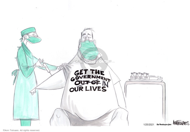 Ann Telnaes  Ann Telnaes' Editorial Cartoons 2021-01-25 pandemic