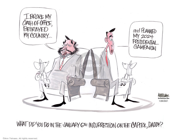 Ann Telnaes  Ann Telnaes' Editorial Cartoons 2021-01-26 conservative