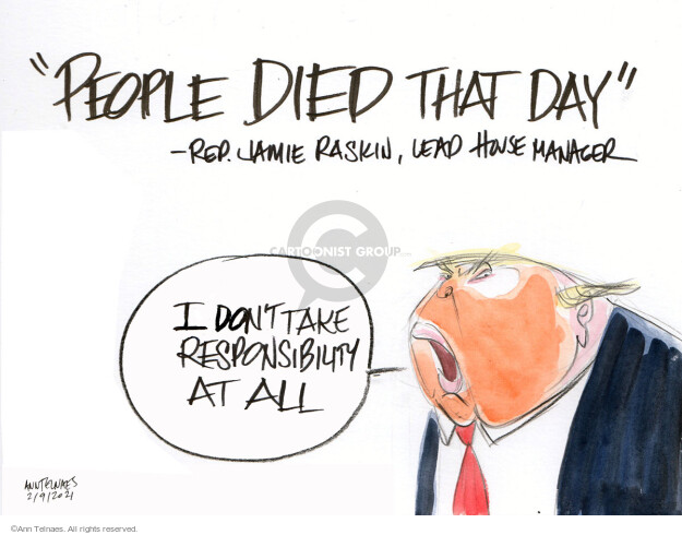 Ann Telnaes  Ann Telnaes' Editorial Cartoons 2021-02-09 representative
