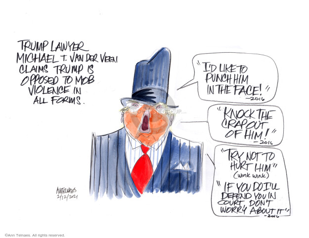 Ann Telnaes  Ann Telnaes' Editorial Cartoons 2021-02-12 Donald Trump