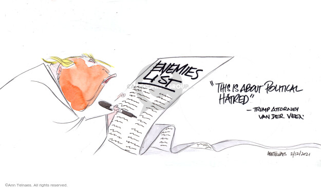 Ann Telnaes  Ann Telnaes' Editorial Cartoons 2021-02-12 violence