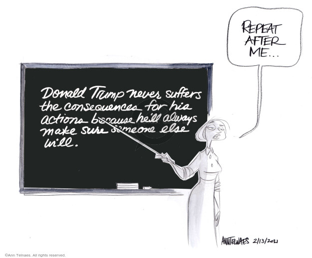 Ann Telnaes  Ann Telnaes' Editorial Cartoons 2021-02-13 his