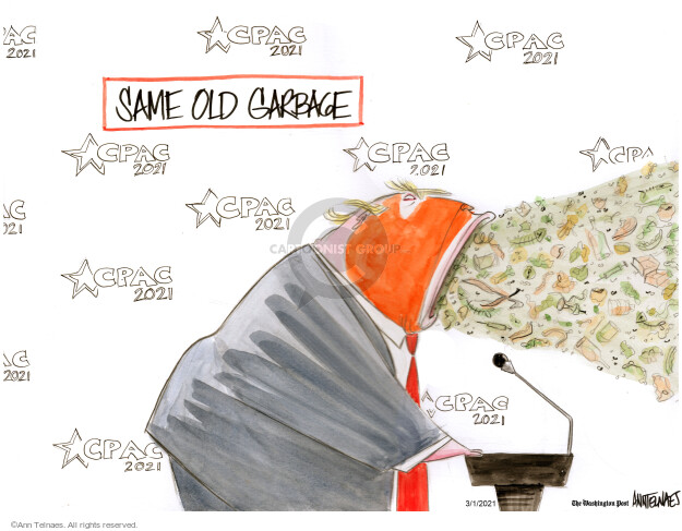 Ann Telnaes  Ann Telnaes' Editorial Cartoons 2021-03-01 Donald Trump