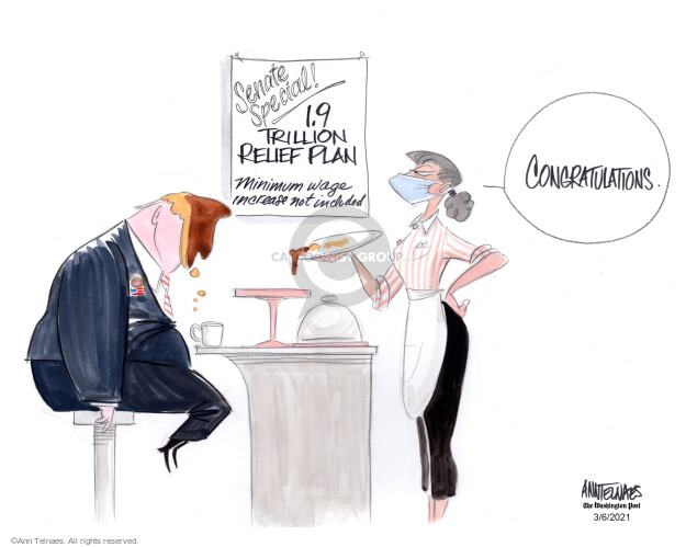 Ann Telnaes  Ann Telnaes' Editorial Cartoons 2021-03-06 congressional leadership