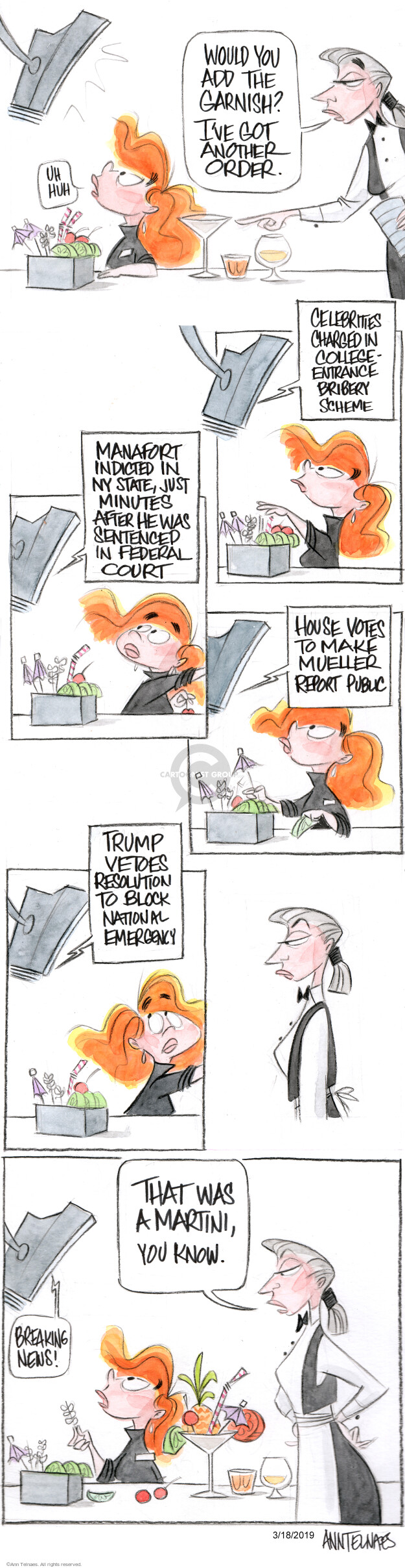 Ann Telnaes  Ann Telnaes' Editorial Cartoons 2019-03-18 bribery