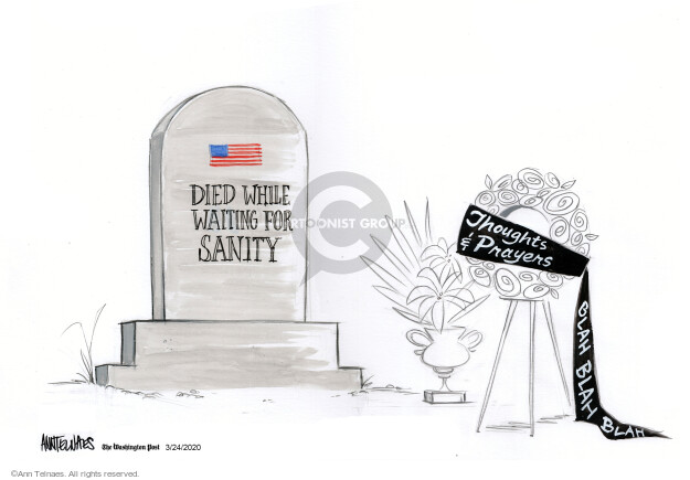Ann Telnaes  Ann Telnaes' Editorial Cartoons 2021-03-24 violence