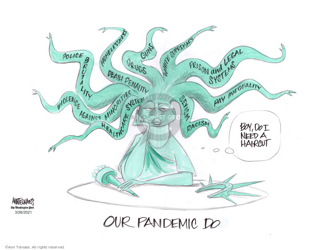 Ann Telnaes  Ann Telnaes' Editorial Cartoons 2021-03-26 violence
