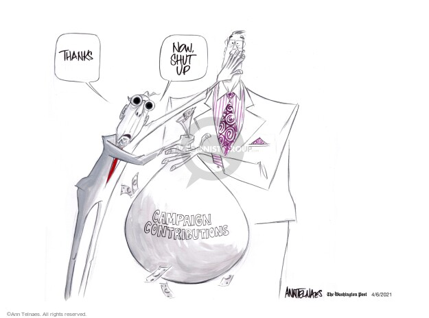 Ann Telnaes  Ann Telnaes' Editorial Cartoons 2021-04-06 conservative
