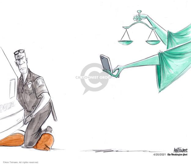 Ann Telnaes  Ann Telnaes' Editorial Cartoons 2021-04-20 Derek Chauvin