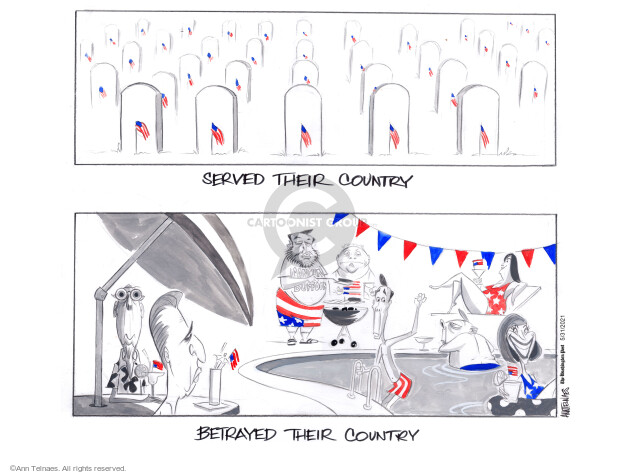 Ann Telnaes  Ann Telnaes' Editorial Cartoons 2021-05-31 congressional investigation