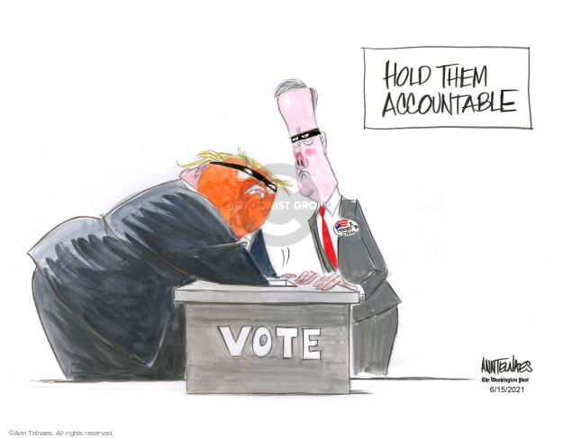 Ann Telnaes  Ann Telnaes' Editorial Cartoons 2021-06-15 2020 election Donald Trump