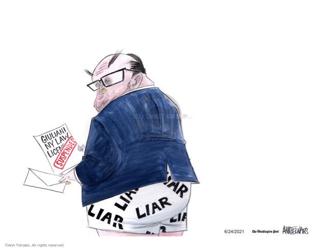 Ann Telnaes  Ann Telnaes' Editorial Cartoons 2021-06-24 Presidency
