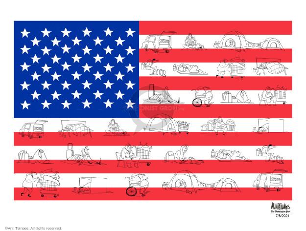 Ann Telnaes  Ann Telnaes' Editorial Cartoons 2021-07-08 flag