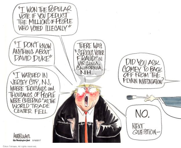 Ann Telnaes  Ann Telnaes' Editorial Cartoons 2017-05-19 voter fraud