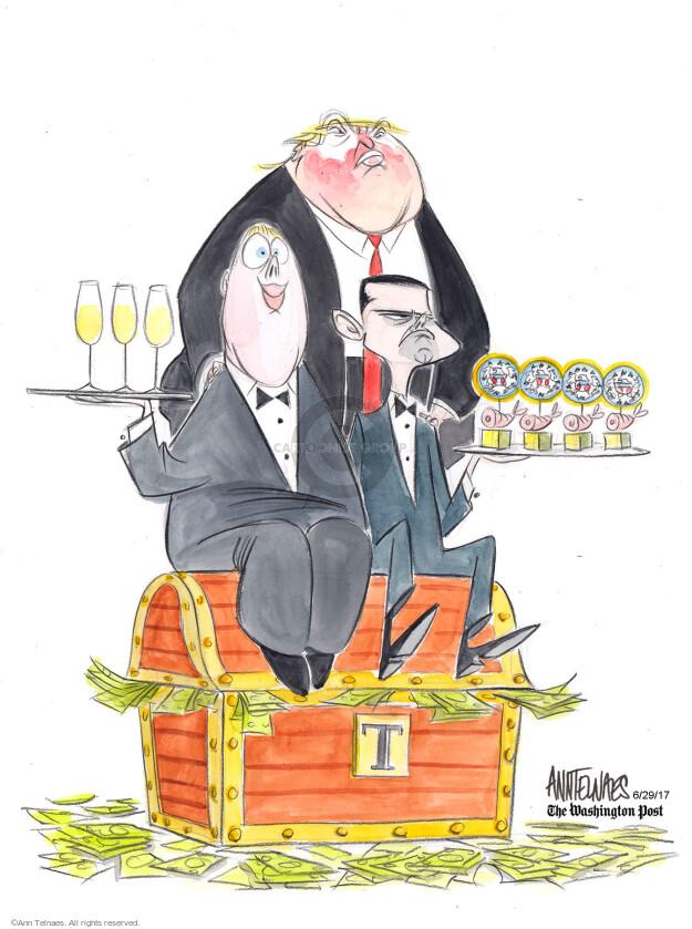 Ann Telnaes  Ann Telnaes' Editorial Cartoons 2017-06-29 Trump Hotel