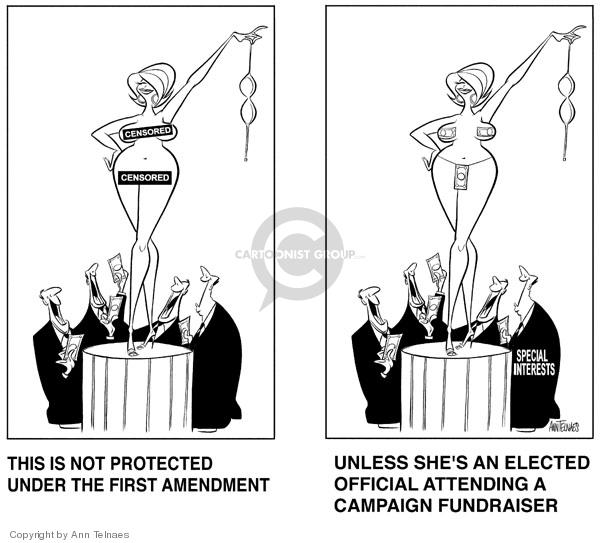 Cartoonist Ann Telnaes  Ann Telnaes' Editorial Cartoons 2000-03-30 first amendment