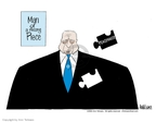 Cartoonist Ann Telnaes  Ann Telnaes' Editorial Cartoons 2002-04-20 George W. Bush