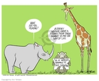 Cartoonist Ann Telnaes  Ann Telnaes' Editorial Cartoons 2002-05-22 rhinoceros