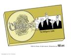 Cartoonist Ann Telnaes  Ann Telnaes' Editorial Cartoons 2002-06-03 Bush Cheney
