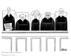 Cartoonist Ann Telnaes  Ann Telnaes' Editorial Cartoons 2002-07-01 court decision