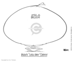 Cartoonist Ann Telnaes  Ann Telnaes' Editorial Cartoons 2003-04-25 federal budget
