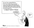 Cartoonist Ann Telnaes  Ann Telnaes' Editorial Cartoons 2003-06-14 ball