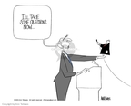 Cartoonist Ann Telnaes  Ann Telnaes' Editorial Cartoons 2003-07-31 puppet
