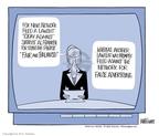 Ann Telnaes  Ann Telnaes' Editorial Cartoons 2003-08-12 Fox News anchor