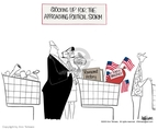Cartoonist Ann Telnaes  Ann Telnaes' Editorial Cartoons 2003-09-16 storm