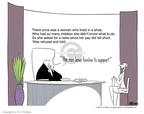 Cartoonist Ann Telnaes  Ann Telnaes' Editorial Cartoons 2004-01-14 man