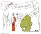 Cartoonist Ann Telnaes  Ann Telnaes' Editorial Cartoons 2004-04-07 ball