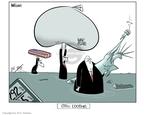 Cartoonist Ann Telnaes  Ann Telnaes' Editorial Cartoons 2006-08-28 Statue of Liberty