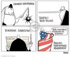 Cartoonist Ann Telnaes  Ann Telnaes' Editorial Cartoons 2008-02-08 patriotic