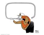 Cartoonist Ann Telnaes  Ann Telnaes' Editorial Cartoons 2006-02-15 rifle