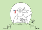 Cartoonist Ann Telnaes  Ann Telnaes' Editorial Cartoons 2005-06-14 patriotic symbol