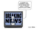 Cartoonist Ann Telnaes  Ann Telnaes' Editorial Cartoons 2005-06-05 television news