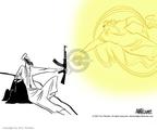 Cartoonist Ann Telnaes  Ann Telnaes' Editorial Cartoons 2001-10-13 rifle