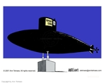 Cartoonist Ann Telnaes  Ann Telnaes' Editorial Cartoons 2001-02-15 submarine