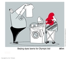 Cartoonist Ann Telnaes  Ann Telnaes' Editorial Cartoons 2001-02-16 2008 Olympics