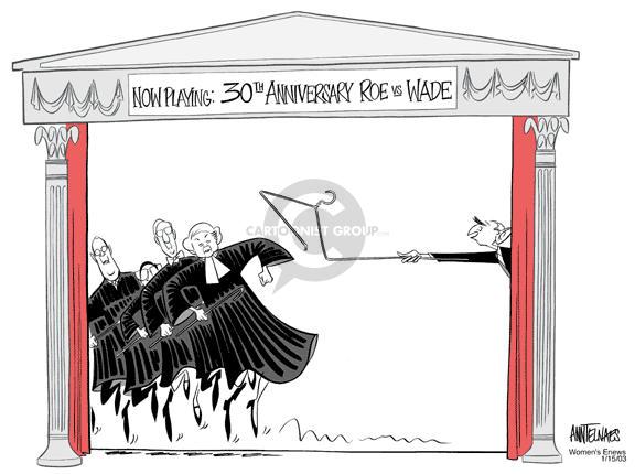 Ann Telnaes  Ann Telnaes' Women's  eNews Cartoons 2003-01-14 Supreme Court