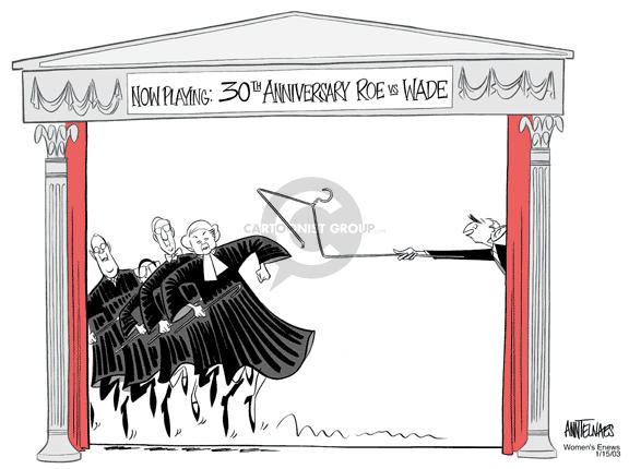 Cartoonist Ann Telnaes  Ann Telnaes' Women's  eNews Cartoons 2003-01-14 supreme court judge
