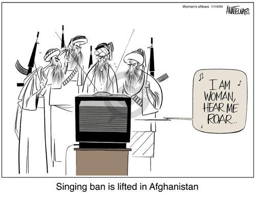 Cartoonist Ann Telnaes  Ann Telnaes' Women's  eNews Cartoons 2004-01-14 human rights