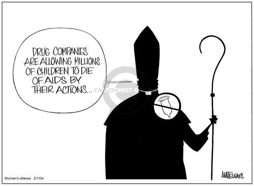 Cartoonist Ann Telnaes  Ann Telnaes' Women's  eNews Cartoons 2004-02-04 denounce