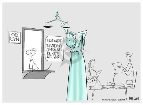 Cartoonist Ann Telnaes  Ann Telnaes' Women's  eNews Cartoons 2004-02-18 privacy