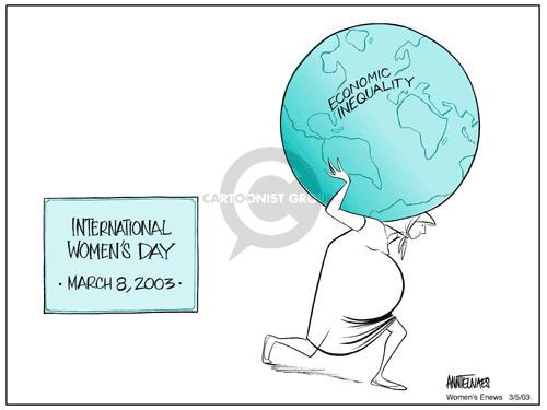 International Womens Day.  March 8, 2003.  Economic Inequality.