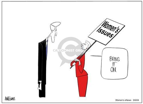 Ann Telnaes  Ann Telnaes' Women's  eNews Cartoons 2004-03-06 equal rights