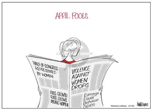 Ann Telnaes  Ann Telnaes' Women's  eNews Cartoons 2004-04-01 income inequality