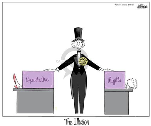 Ann Telnaes  Ann Telnaes' Women's  eNews Cartoons 2004-05-20 illusion